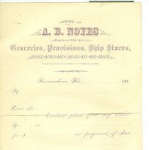 Image of Letter of Payment A B Noyes Grocery
