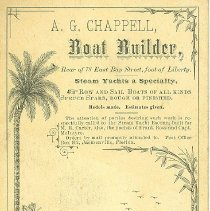 Image of Business card promoting A G Chappel, Boat Builder