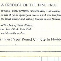 Image of A postcard that reads: A Product of the Pine Tree.