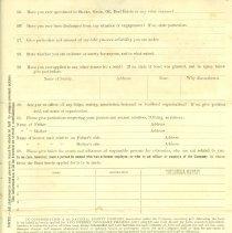 Image of Application for Surety Bond pg 3