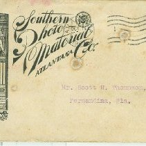 Image of Envelope to Scott Thompson from Southern Photo-Material Co.