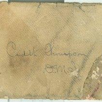 Image of Envelope addressed to Cadet (Scott) Thompson, D.M.I. - Envelope