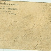 Image of Envelope to Scott Thompson in Robertsdale, Pa. from Thompson Groceries