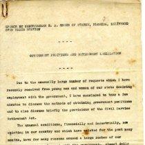 Image of Speech manuscript of Congressman R. A. Green - Manuscript