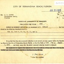 Image of Notice of assessment of property for taxes for year 1955 - Bill