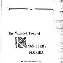 Image of The Vanished Town of Kings Ferry Florida - Book