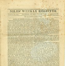 Image of Niles' Weekly Register, Aug. 2, 1817, front