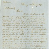 Image of Letter from Samuel A. Harvey to A. Dunbar - Letter