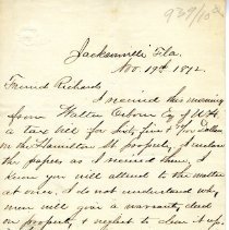 Image of Two letters from S. L. Smith - Letter