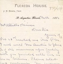 Image of 1881 Letter