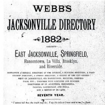 Image of 1882 Fernandina from Webb's Jacksonville Directory - Directory,  Business