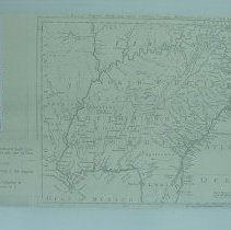 Image of Map of the Southeastern U S 1755 - Map