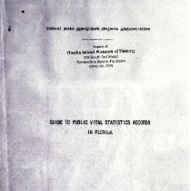 Image of Guide to public vital statistics records in Florida - Record, Vital
