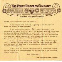 Image of Perry Pictures Co. letter 1