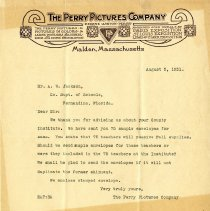 Image of Perry Pictures Co. letter 2