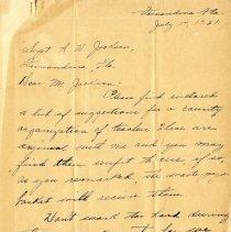 Image of Bennett letter p.1