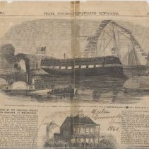 Image of Engraving in Frank Leslie's Illustrated Newspaper from sketch of Yulee Community House, U.S. Army headquarters, dated May 21, 1862. - Newspaper