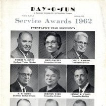Image of Ray-O-Sun Service Awards 1962 - Brochure