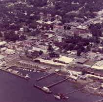 Image of Aerial view of Fernandina waterfront - Print, Photographic