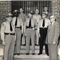 Image of Sheriff R. A. Adams and colleagues at the Nassau County Jail - Print, Photographic