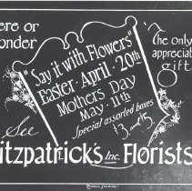 """Image of """"Say it with Flowers"""" Fitzpatrick's Florists - Print, Photographic"""