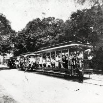 Image of Trolleys on Centre Street - Print, Photographic