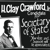 Image of H. Clay Crawford, Jr., Candidate for Secretary of State - Print, Photographic