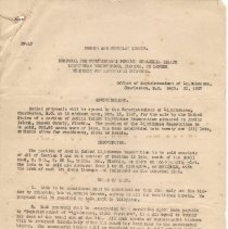 Image of Circular issued 09/15/1927 by U.S. government announcing rules to bid on part of Amelia Island Lighthouse Reservation being sold Nov. 15, 1927. - Circular