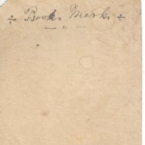 Image of 19th century bookmark, back