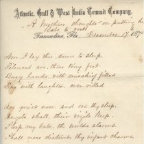 Letter with Transit Co  letterhead written by William P  Wylly to