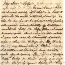 Image of Letter by William P. Wylly to his wife in Ga. about lodgings in Fernandina, discipline of Ollie, plants and crops, private letters, weather and family life. - Letter