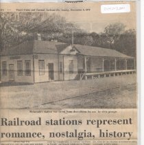 Image of Article on restored Fla Railroad depots, Times-Union & Journal p1