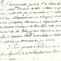 Image of Letter from Spanish Governor of Florida, Enrique White, to Commandant of Amelia Island, Justo Lopez, the army post and town will be called Fernandina and the rest of the island will still be called Amelia, as of Jan. 1, 1811. - Letter