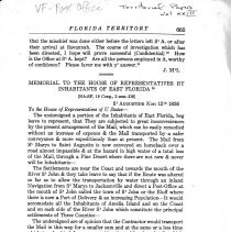 Image of Memorial to the House of Representatives by inhabitants of East Florida - Record, Legislative