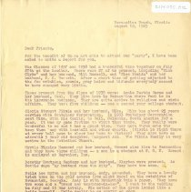 Image of Report of reunion of Classes of 1937 and 1938 - Letter