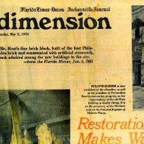 Image of Restoration makes waves --and grandma has her say - Newspaper