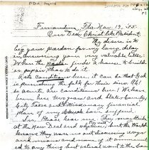 Image of Letter from Rev. Thomas to FDR - Letter