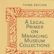 Image of A legal primer on managing museum collections - Book