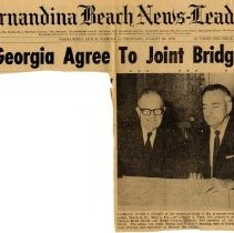 Image of Newspaper clippings related to a bridge to St. Marys collected by the Chamber of Commerce.   - Newspaper