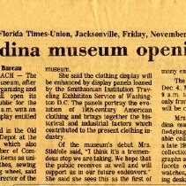 Image of Newspaper clippings related to the History Museum collected by the Chamber of Commerce.   - Newspaper