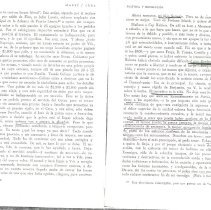 "Image of 2 pgs of Jose Marti letters naming N.B. Borden & his ""cargo"""
