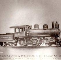 Image of Fla. Central & Peninsular RR locomotive No. 69 - Print
