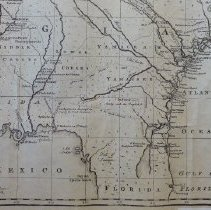 Image of map of Georgia with parts of Carolina, FL & LA