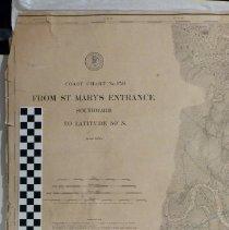 Image of U S Coastal Survey St Mary's Entrance S 1882 - Map