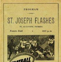 Image of Football program for St. Joseph Flashes vs. Fernandina - Program