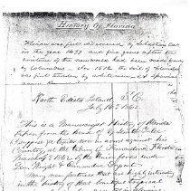 Image of History of Florida manuscript - Manuscript