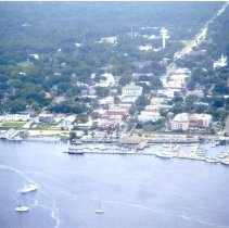 Image of Aerial photograph of Fernandina waterfront - Print, Photographic
