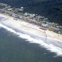 Image of Aerial photograph of beach renourishment on Amelia Island - Print, Photographic
