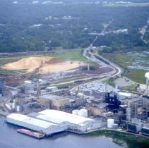 Image of Aerial photograph of paper mills on Amelia Island - Print, Photographic