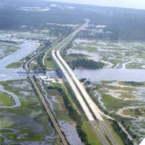 Image of Aerial photograph of bridges of Amelia Island - Print, Photographic